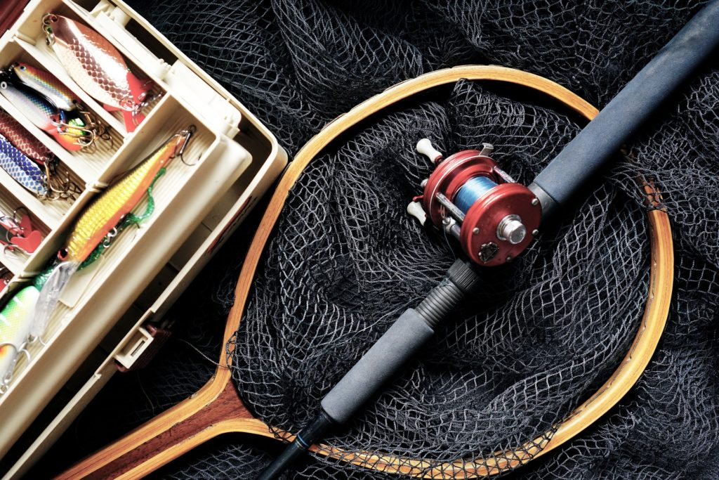 fishing rods and lures